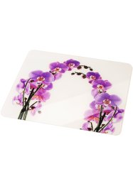 Plaque multi-usage Orchidée, bpc living, blanc/violet