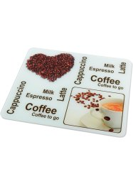 Plaque multi-usage Café, bpc living, marron/blanc