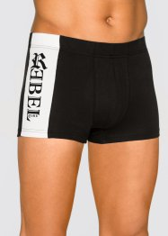 Lot de 3 boxers, bpc bonprix collection, noir/blanc/rouge