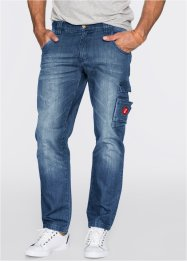 Jean Dirty Used Regular Fit, John Baner JEANSWEAR, bleu