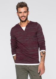 Pull Slim Fit, RAINBOW, rouge chiné