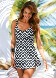 Robe de bain, bpc selection, noir/blanc