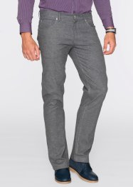 Pantalon 5 poches aspect flanelle Regular Fit, bpc selection, bleu foncé chiné
