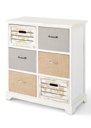 Commode Kira, bpc living, blanc/naturel