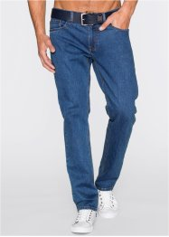 Lot de 2 jeans extensibles Regular Fit Straight, John Baner JEANSWEAR, bleu+noir