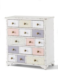 Commode Rosamunde, bpc living, blanc/rose