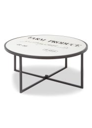 Table basse David, bpc living, bois naturel/noir