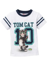 T-shirt TALKING TOM, Talking Tom and Friends, blanc imprimé TALKING TOM