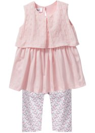 Robe + legging 3/4 (Ens. 2 pces.), bpc bonprix collection, rose pâle/rose à fleurs