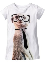 T-shirt à imprimé animal, bpc bonprix collection, blanc imprimé