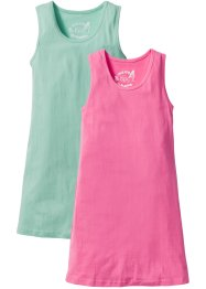 Lot de 2 robes, bpc bonprix collection, bleu menthol/rose flamant