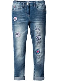 Jean skinny avec applications, John Baner JEANSWEAR, bleu stone