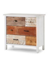 Commode Jolien 6 tiroirs, bpc living, blanc/naturel