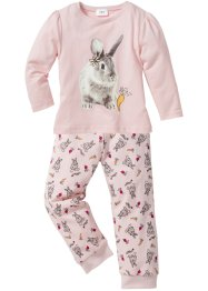 Pyjama (Ens. 2 pces.), bpc bonprix collection, blanc cassé/rose dragée