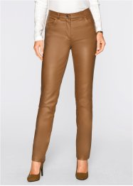 Pantalon extensible enduit brillant, bpc selection, bronze