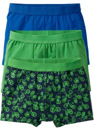 Lot de 3 boxers, bpc bonprix collection, vert amande/bleu