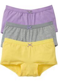 Lot de 3 culottes, bpc bonprix collection, gris clair chiné/mauve/citron clair