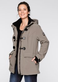 Veste duffel-coat softshell, bpc bonprix collection, taupe
