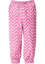 Pantalon imprimé, bpc bonprix collection, fuchsia/blanc imprimé