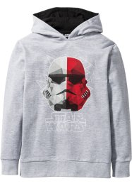 Sweat-shirt à capuche STAR WARS, Star Wars, gris clair chiné imprimé