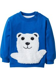 Sweat-shirt bébé en coton bio, bpc bonprix collection, bleu azur