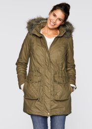 Parka 2en1 enduite, bpc bonprix collection, vert gui