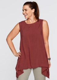Top base en pointe, bpc bonprix collection, rouge acajou