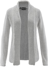 Gilet en maille, bpc selection, gris clair chiné