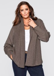 Gilet en maille, bpc selection, marron moyen chiné