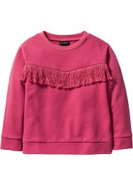 Sweat-shirt à franges, bpc bonprix collection, fuchsia moyen