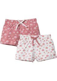 Lot de 2 shorts en jersey, bpc bonprix collection, vieux rose