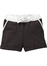 Short sweat, bpc bonprix collection, anthracite chiné/blanc cassé