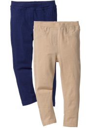 Lot de 2 jeggings, bpc bonprix collection, bleu nuit + sable