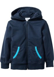 Gilet sweat-shirt à capuche, bpc bonprix collection, bleu foncé