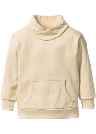 Sweat-shirt à col large, bpc bonprix collection, beige