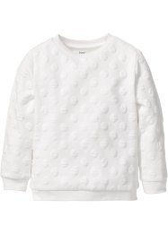 Sweat-shirt structuré, bpc bonprix collection, blanc cassé