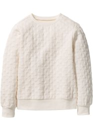 Sweat-shirt à motif petits cœurs, bpc bonprix collection, blanc cassé