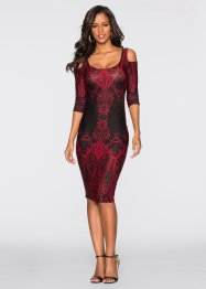 Robe, BODYFLIRT boutique, rouge/noir