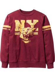Sweat-shirt imprimé Campus, bpc bonprix collection, bordeaux