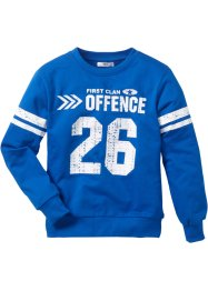 Sweat-shirt Campus, bpc bonprix collection, bleu azur