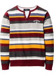 Pull, bpc bonprix collection, bordeaux rayé