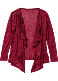 Cardigan portefeuille, bpc bonprix collection, bordeaux/noir chiné