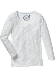 Top en dentelle, bpc bonprix collection, blanc cassé