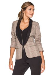 Blazer smoking, BODYFLIRT, beige à carreaux