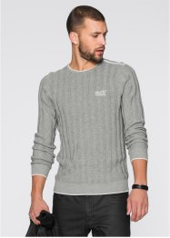 Pull Slim Fit, RAINBOW, gris clair chiné