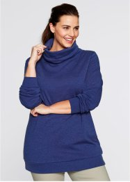 Sweat-shirt long, bpc bonprix collection, bleu nuit
