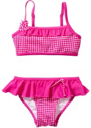 Bikini fille (Ens. 2 pces.), bpc bonprix collection, fuchsia à carreaux