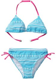 Bikini fille (Ens. 2 pces.), bpc bonprix collection, bleu/blanc
