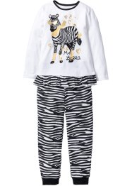 Pyjama (Ens. 2 pces.), bpc bonprix collection, noir/blanc
