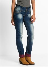 Jean extensible Straight, RAINBOW, dirty denim